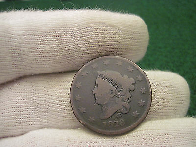 1828 Large Cent Old US Coronet Cent Type Coin