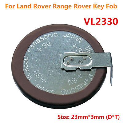 VL2330 Panasonic Rechargeable Button Coin Key Fob Battery For Land Rover Key Fob