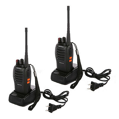 2 * BaoFeng BF-666S Two-Way 16-Channel 400-470MHz Handheld Walkie Talkie Radio