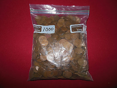 1000+ Mixed Wheat Cents: Seven Pounds Of Coins