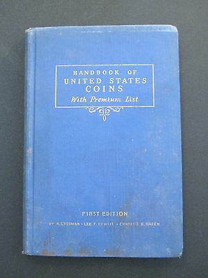 1942 Handbook of United States Coins - First Edition - R.S. Yeoman Blue Book