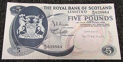 1969 + The Royal Bank of Scotland Limited £5.00 Banknote