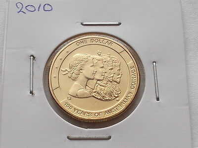 2010 100 Years of Australian Coinage  One Dollar Coin (UNC)