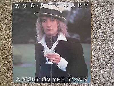 "Vintage (1976) Poster - Rod Stewart ""Night on the Town"""