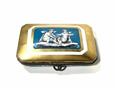 Rare Antique Gold Gilt Hand Painted Sevres Made in France Porcelain Box