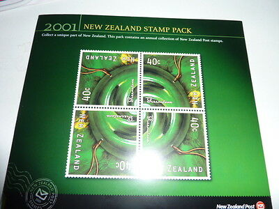 2001 New Zealand Post issued Stamp Pack of postage stamps