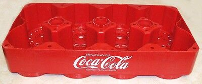 Vintage PLASTIC COKE CARRIER RED 8 BOTTLE Coca-Cola case