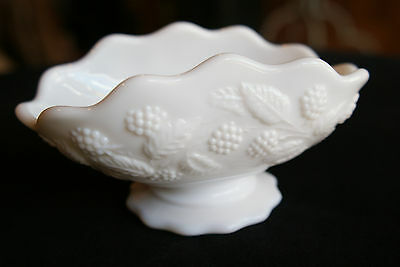 Vintage Fostoria Berry Milk Glass - Oblong Nappy, Excellent Condition