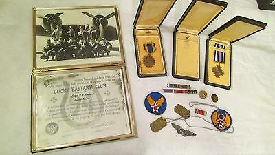 WWII US Army 8th Air Force 94th Bomb Group Uniform Medals Dog Tags Patch Photos
