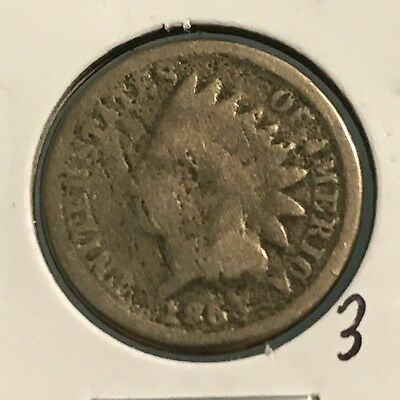 1863 Indian Head Cent: Copper-Nickel Composition: #3