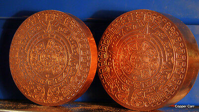 MAYAN AZTEC CALENDAR 1 Pd + 1 Kilo .999  Copper Bullion  ROUNDS