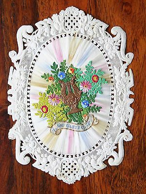 Beautiful Victorian Lace Paper New Year's Card  Dobbs Unusual