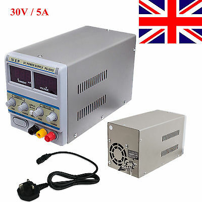 0-30V WEP-305D Variable Linear Adjustable Lab DC Bench Power Supply 0-5A UK NEW