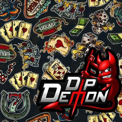 Casino Gambling Dip Demon Hydrographic Water Transfer Film Hydro Dip Dipping