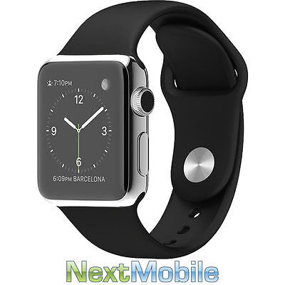 Apple Watch Stainless Steel Case 42mm with Sports Band - Black