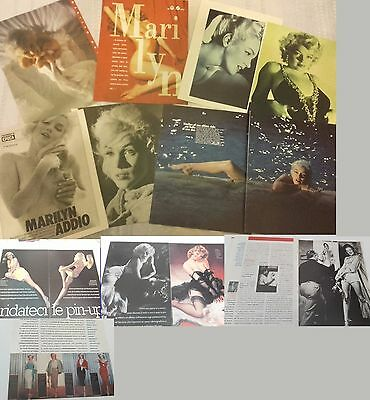 MARILYN MONROE _italian clippings_lotto immagini originali da riviste d'epoca