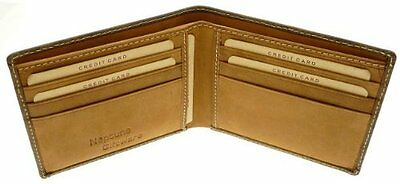 Brown Men's Leather 'Cow hunter' Credit Card & Notes Holder Wallet - 6 Cards