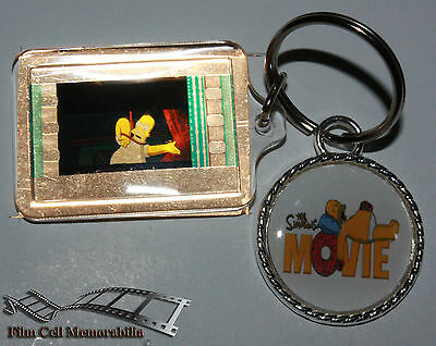 The Simpsons Movie - 35mm Film Cell Movie KeyRing and Pendant Keyfob Gift