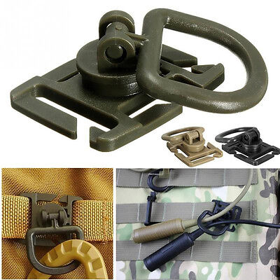2X 360 ° Locking D-Ring Mousqueton Molle Sangles outil Clip boucle