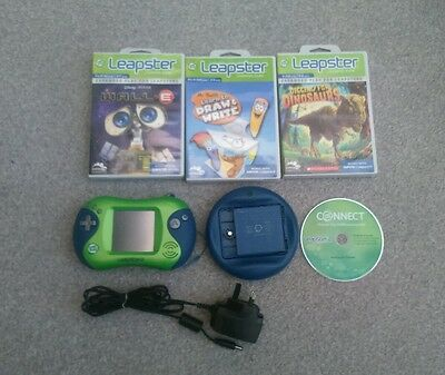 LEAPFROG LEAPSTER 2 BUNDLE - Console + Battery Pack & Charger + 3 Games