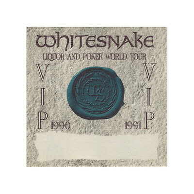 Whitesnake authentic VIP 1990-1991 tour Backstage Pass