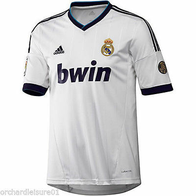 Mens 100% Authentic Adidas Real Madrid football Home Shirt large BNWT