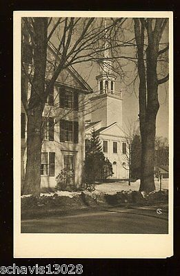American Scene Connecticut Tricentenary 1935 Meeting House Postcard Unposted 67