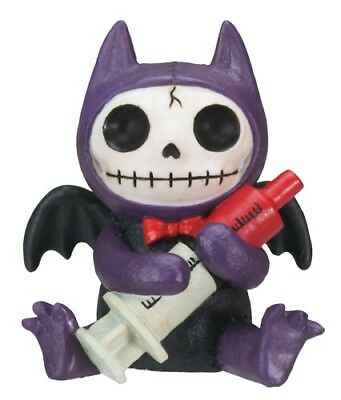FurryBones Flappy Figurine Bat Purple Cute Gothic Cool Skeleton Gift Skull Blood
