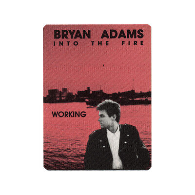 Bryan Adams authentic Working 1987 tour Backstage Pass