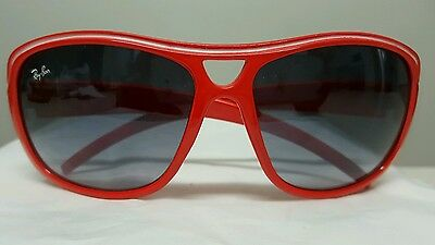 Ray Ban  red frame sunglasses . As new