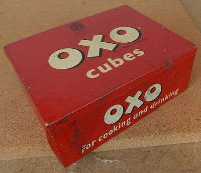 Vintage Oxo cubes tin large 24x6 To the late King George Vi
