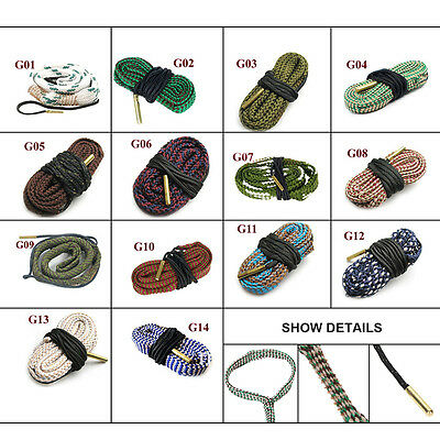 Lot Bore Rope Rifle Cleaning Cleaner Snake Calibre Rifle Pistols Barrel Cleaners