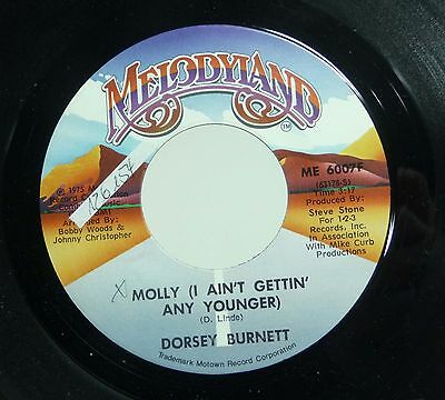 """DORSEY BURNETTE - M- 70s US Melodyland COUNTRY 7"""" Molly I Ain't Getting Any .."""