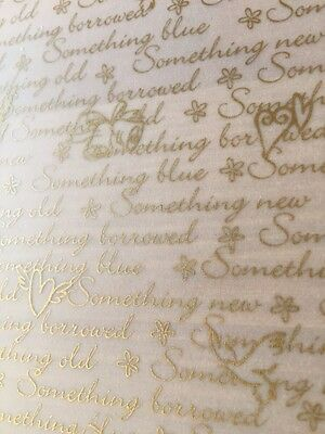 7 Sheets A4 Translucent Wedding Paper Something Old New Borrowed Cake Wrap Gold