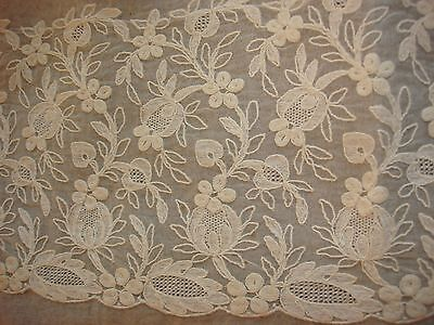 "Lovely Lace Trimmed Edwardian Silk Bed Linens Pillowcase Pillow Sham Mono ""MAD"""