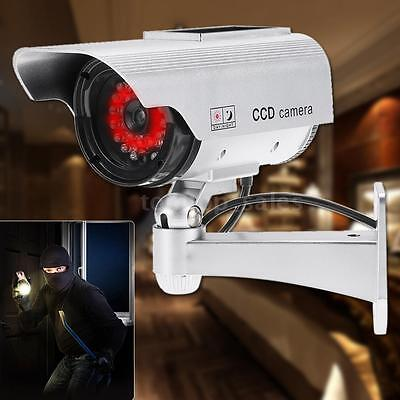 Waterproof Surveillance Camera Dummy Simulation CCTV Security Solar Powered W1I7