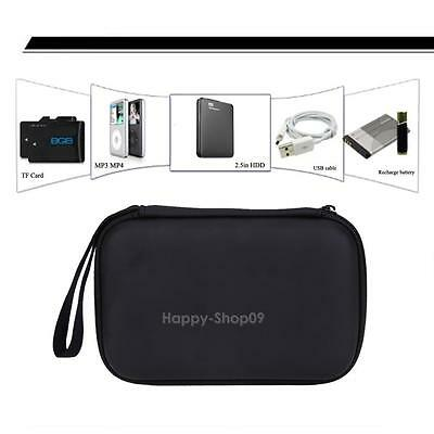 """Hard Pouch EVA PU Carrying Case Bag for 2.5"""" inch External Hard Drive Portable"""