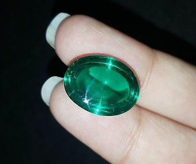 Excellent 16.45 Ct Oval Cabochon Che-tan Panna (Emerald) Gemstone eBay