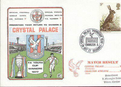 Crystal Palace Return to Division II 1977 Dawn First Day Cover