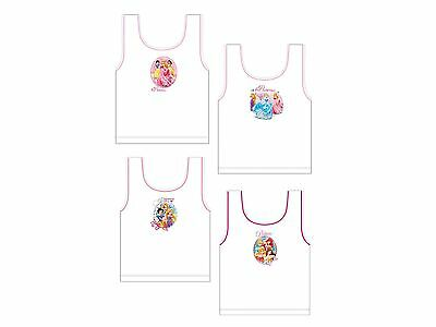Disney Princess Cinderella Aurora Belle Rapunzel Childrens Vests Set Size 1-6 Y