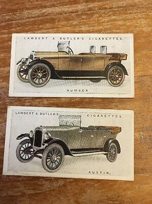 Lambert And Butler Cigarette Cards - Motor Cars - Austin 3. Humber 15
