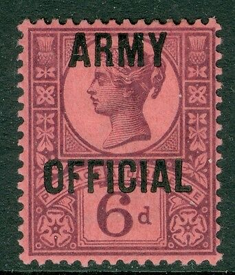SG 045 6d Purple / Rose Red army official pristine very lightly mounted mint