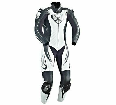 Ixon Starbust One Piece Motorcycle Leathers New Black / White / Grey Ce Approved