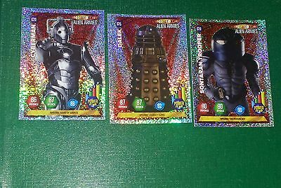 Dr Who Glitter Cards.  G19 G20 G15.