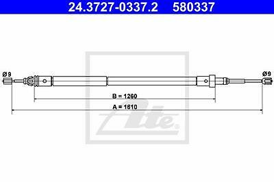 Rear Hand Brake Cable ATE 24.3727-0337.2 for Citroen
