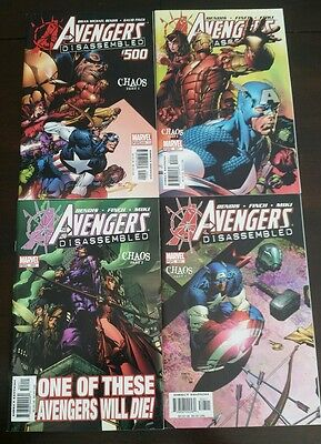 Avengers #500-503, VF/NM, Chaos, Disassembled, Scarlet Witch (Oct 2004, Marvel)