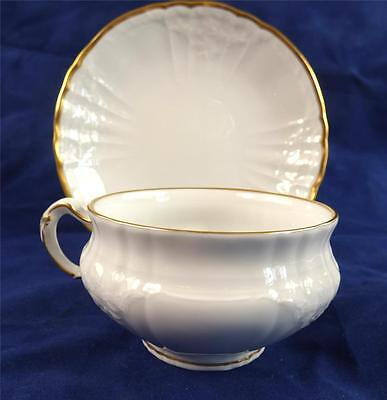 Kpm Berlin Porcelain Cup & Saucer Rocaille Qty Sold Individually Gilt Trim