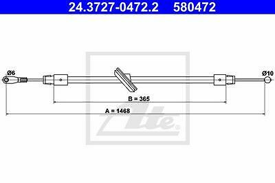 Rear Hand Brake Cable ATE 24.3727-0472.2 for Mercedes