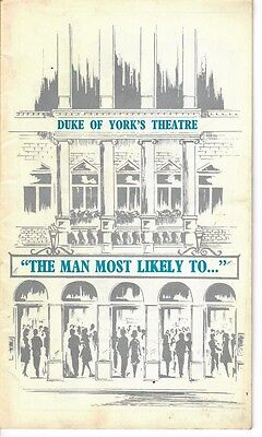 The Man Most Likely to...- 1968 West End Theatre program