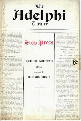 'Stop Press' - 1935 West End Theatre program